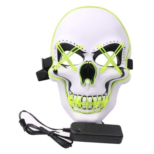 Маска для вечеринки на Хэллоуин LED Scary Flash Mask фото