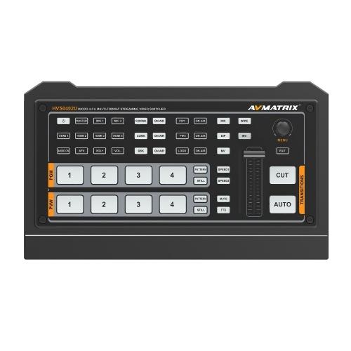 AVMATRIXHVSO402Uポータブルマルチフォーマットビデオスイッチャー