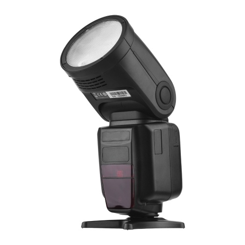 Universal Wireless TTL Flash Speedlite On-camera 2.4G Master/ Slave Speedlight Round Head 76Ws 1/8000s HSS 2.1s Recycle Time Built-in 2W LED Modeling Light with Lithium Battery Carry Case Replacement for Canon Nikon DSLR Camera