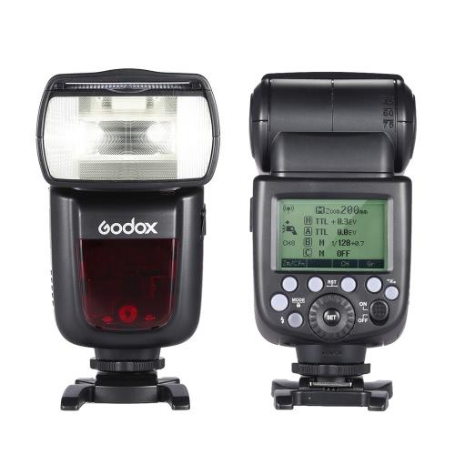 Godox V860II N 私には TTL ニコン D800 D700 D7100 D7000 D5200 D5100 D5000 D300 D300S D3200 デジタル一眼レフ カメラ用 1/8000 s HSS マスター スレーブ GN60 スピード ライト フラッシュ内蔵 2.4 G ワイヤレス X システム 2000 mah 充電式リチウム イオン バッテリー