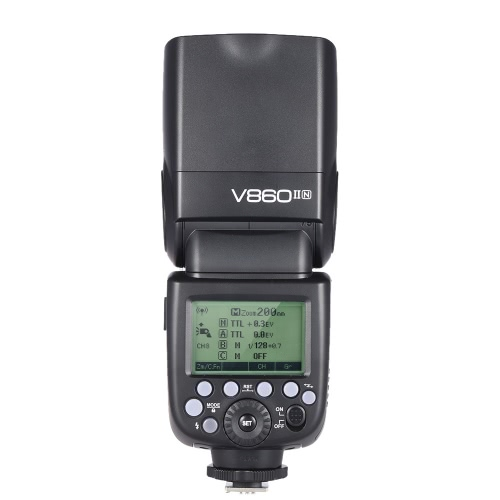 Godox V860II-N i-TTL 1/8000 s HSS maître esclave GN60 Speedlite Flash