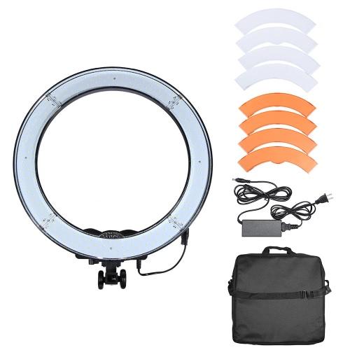 RL-18 240pcs Ring LED Panel Beads Lamp Lights CRI 90+ Color Temperature 5500K Studio Outdoor Video Camera Photography Lighting Kit