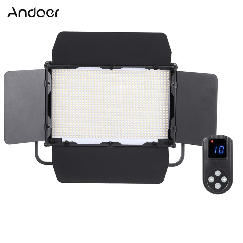 Andoer Adjustable Brightness 1040pcs LED Beads CRI 95+ 3840LM 3200K-5600K DMX512 Video Studio Photography Light Lamp for Canon Nikon Sony Camera Camcorder