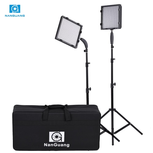 NanGuang CN-576 576pcs LED Beads 5600K/3200K Photography Video Camera Light Kit with LED Light + Adapter + Light Stand + Filters + Storage Bag