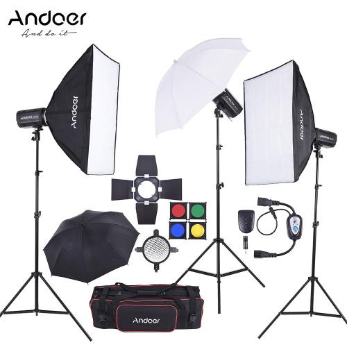 Andoer MD-300 900W (300W * 3) Zestaw lamp błyskowych Studio Strobe