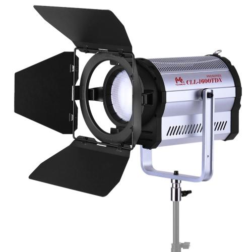 FalconEyes CLL-1600TDX 160W Bi-Color 3000K-8000K Photo Studio LED SpotLight Photography Studio Video Light avec Barn Door CRI95 + DMX 512 Système