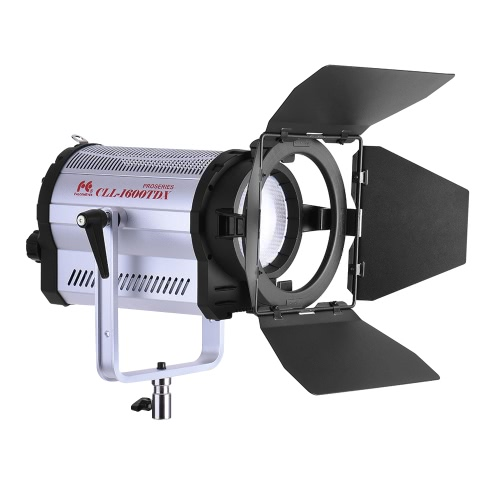 FalconEyes CLL-1600TDX ​​160W Bi-Color 3000K-8000K Photo Studio LED Spotlight studio fotografii Lampa wideo z Barn Door CRI95 + DMX 512 Systemu