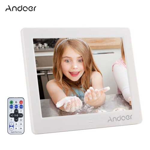 """Andoer - Pantalla LCD de 8 """", pantalla ancha, 1024 * 768 HD, marco de fotos digital"""