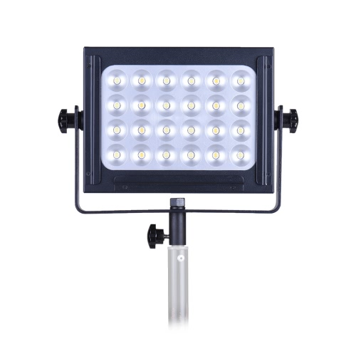 Zifon ZF-5000 24 LED Video Light Dimmable DSLR Camera Camcorder Panel Light w/ White Orange Filter High Power Ultra Bright for Photo Studio