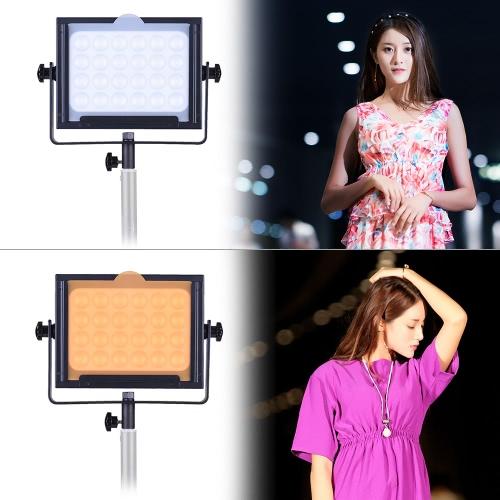 Zifon ZF-5000 24 LED Lampa wideo DSLR Camera Ściemnialny panel Kamera światła w / Biały Pomarańczowy filtr wysokiej mocy Ultrajaskrawy dla Photo Studio