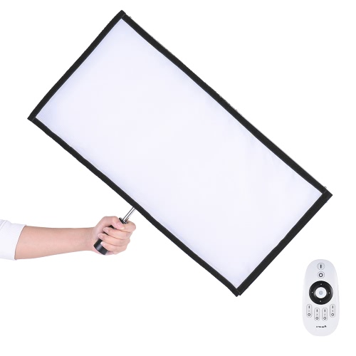 Travor FL-3060A LED Light Dual Color Temperature 3200K-5500K CRI90+ 85W Max.8000LM Flexible Cloth Roll-up Handheld LED Video Photography Film Fill-in Light Panel with Remote Control