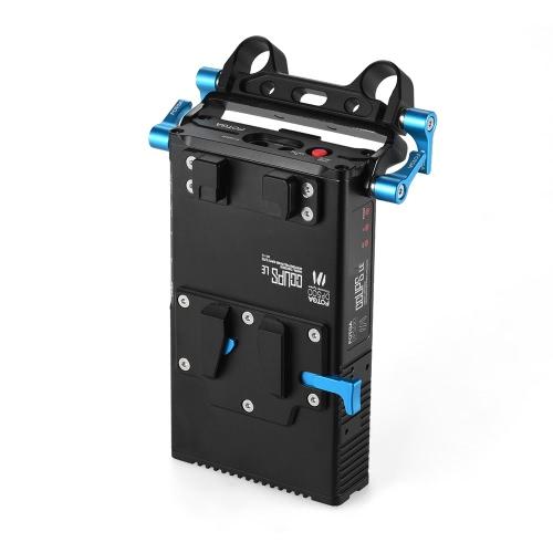 FOTGA DP500III 2 en 1 V para montaje en placa de la batería del cargador del adaptador w / 15mm soporte universal para Canon Nikon Sony videocámara de la cámara de vídeo estudio de rodaje Sistema de Alimentación Fotografía
