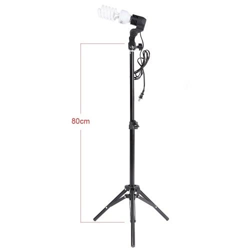 Zestaw foto Studio Andoer 2 * 2 m podstawka + 3 * żarówka 45 W + 2 * 83 cm półprzezroczysta biała parasolka +2 * 83cm czarno-srebrna parasolka + 1 * 80 cm podstawa + 3 * żarówka z 1 przegrodą