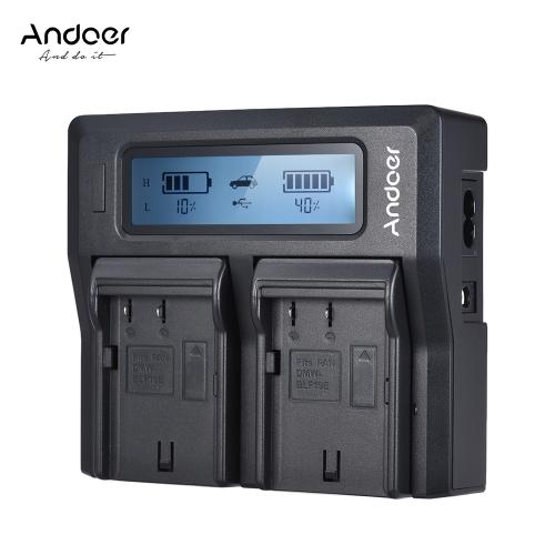 Andoer DMW-BLF19E dwukanałowa kamera Ladowarka do aparatów LCD do Panasonic Lumix DC-GH5 DMC-GH3 DMC-GH3K DMC-GH4 DMC-GH4K