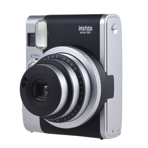 Fujifilm Instax Mini 90 Neo Classic Caméra instantanée Photo Film Cam w / Support d'écran LCD Macro Photographie Double exposition B Shutter Timed Selfie w / Flash 2 Shutter