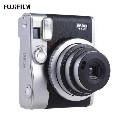 Fujifilm Instax Mini 90 Neo Classic Caméra instantanée Photo Film Cam w / Support d'écran LCD Macro Photographie Double exposition B Shutter Timed Selfie w / Flash 2 Shutter
