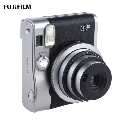 Fujifilm Instax Mini 90 Neo Classic Instant Camera Photo Film Cam w/ LCD Screen Support Macro Photography Double Exposure B Shutter Timed Selfie w/ Flash 2 Shutter