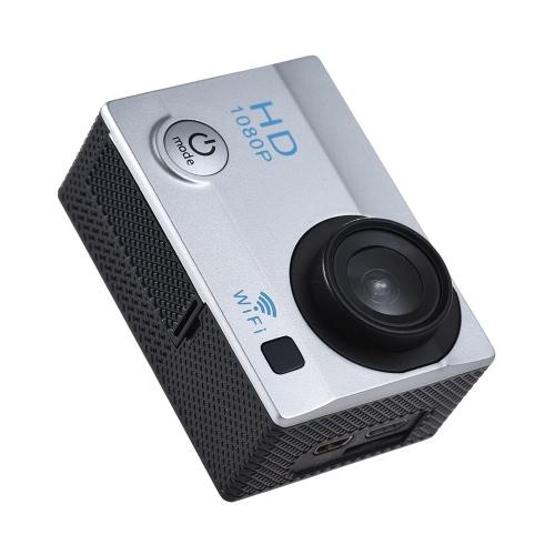 """2 """"LCD 12MP 1080P WiFi Camera de esportes de ação"""