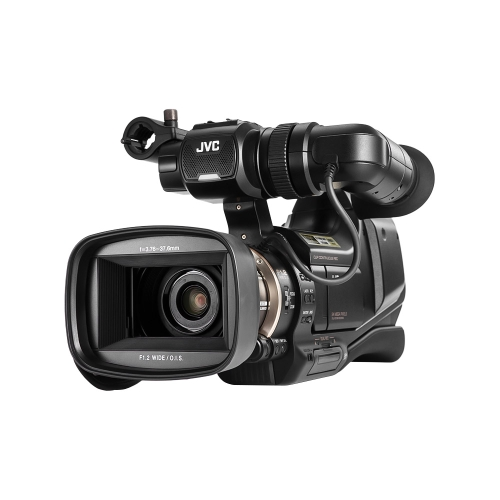 JVC JY-HM95 Professional AVCHD Camcorder 1080P 36Mbps 24MP High Definition F1.2 Large   Aperture A.I.S Stabilization with Dual Card Slot Dual Battery Slot Shoulder Mount Handle   for Wedding Recording