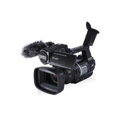 JVC JY-HM360 Profesjonalna ręczna kamera 1080P HD 18,9 megapiksela CMOS Sensor F1.2 (szeroki) do F2,8 (tele) 9H Runtime z rozpoznawaniem twarzy, automatycznym ustawianiem ostrości, optycznym stabilizatorem obrazu i pięknymi trybami skóry dla fotografów ślubnych i eventowych