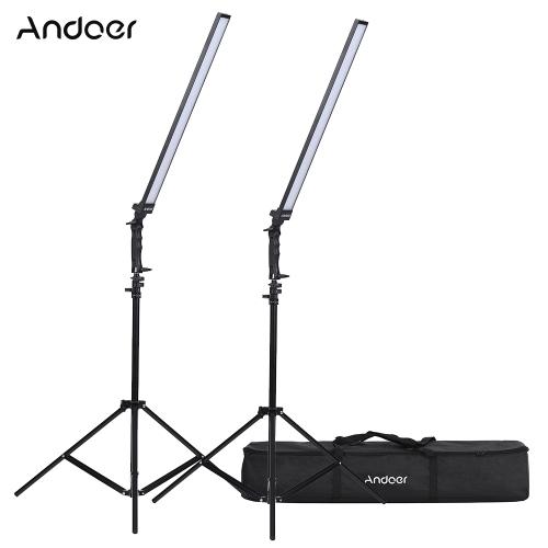 Andoer Photography Studio Zestaw oświetleniowy LED Ściemnianie LED Video Light
