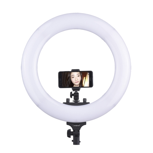 "Andoer 18 ""432 48W Dimmable 3200-5600K Bi-colore LED Ring Light"