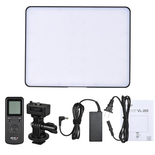Viltrox VL-200 Sterowanie bezprzewodowe Dwukolorowy ściemniany panel LED do oświetlenia wideo 3300K-5600K 192 Koraliki CRI95 Ekran LCD do aparatu Canon Nikon Sony DSLR