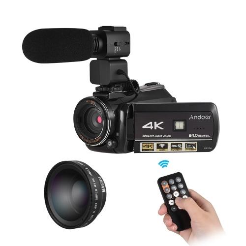 Andoer AC3 4K UHD 24MP Digitaler Videokamera Camcorder
