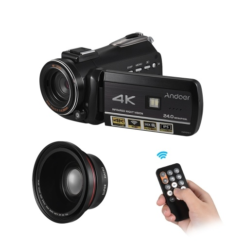 Andoer AC3 4K UHD 24MP Digital Video Camera Camcorder