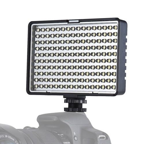 Travor TL-160 Professional Моноцветная температура Dimmable Светодиодная видеосъемка с подсветкой 8-уровневая регулируемая яркость 950 люмен CRI 85+ с 2-мя цветными фильтрами для Canon Nikon Sony DSLR Camera Camcorder фото