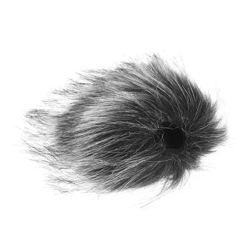 Gris Microphone Furry Pare-Brise En Fourrure