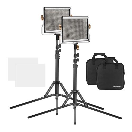 Andoer Portable LED Kit de panneau d'éclairage vidéo