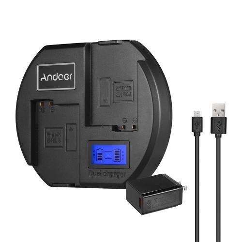 Andoer Fast Charger Chargeur de batterie pour appareil photo double canal