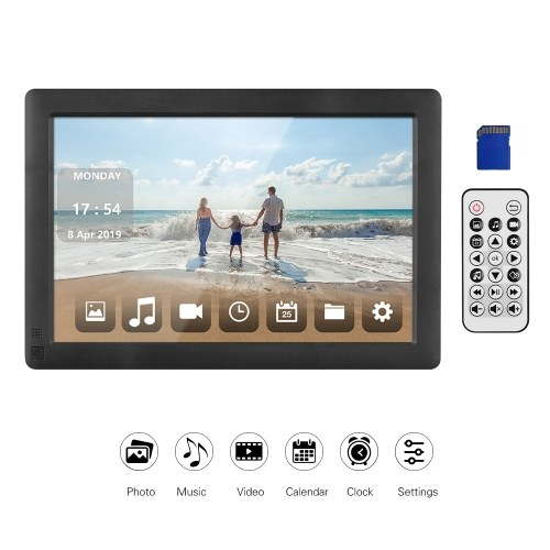 Andoer 10,1 Zoll ultradünnes digitales IPS-LCD-Fotorahmen-Desktop-Album