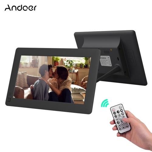Andoer Álbum de escritorio con marco de fotos digital LCD ultrafino de 7 pulgadas