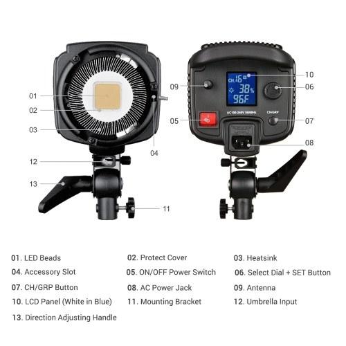 Godox SL150W 5600K 150W High Power LED Video Light