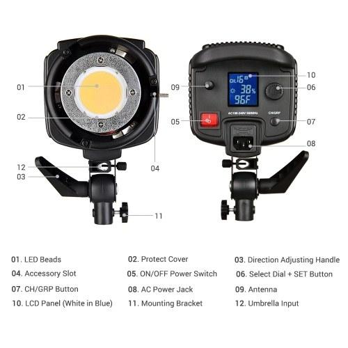 Godox SL200W 5600K 200W High Power LED Video Light