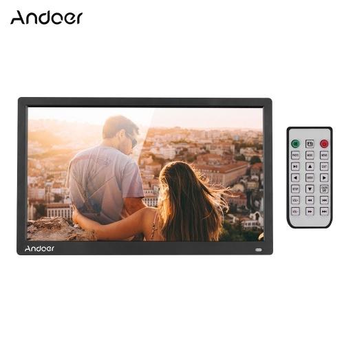 Andoer 17,3 polegadas Desktop Digital Photo Picture Frame Album