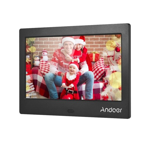Color : White Video Function Multiple Functions Digital Picture Frames 7 Inches HD Digital Photo Frame Video Player Digital Photo Frame with Music