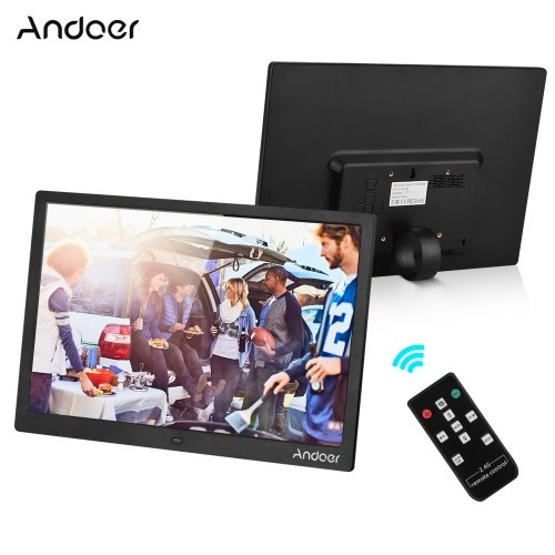 Andoer 15,4 Zoll 1280 * 800 Auflösung LED Digitaler Bilderrahmen Fotoalbum
