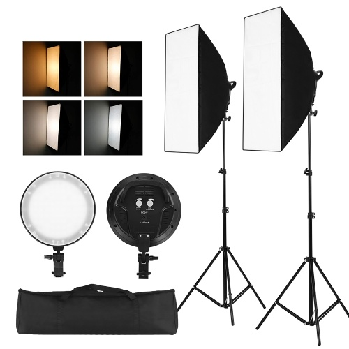 Kit luci LED Softbox fotografia Professinal Studio