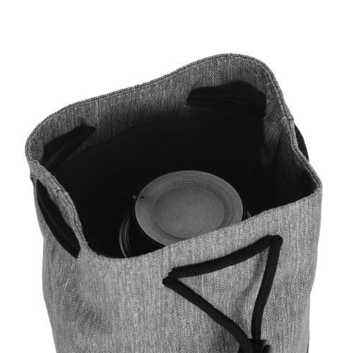 CADeN Drawstring Camera Lens Pouch Bag Protective Case for DSLR Camera Lens Compatible with Canon Sony Nikon Fujifilm