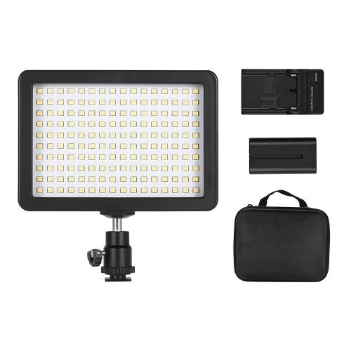 Lampe de caméra vidéo Andoer W160 LED Dimmable 5600K Temperaure de couleur