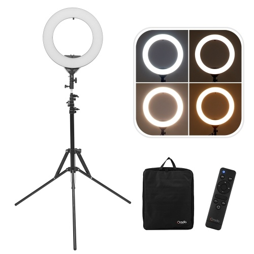 ORSDA ORB-14T 14 Inch LED Ring Light Studio Photography Fill-in Lamp 3200K-6500K 30W Dimmable Dual USB Charging Port