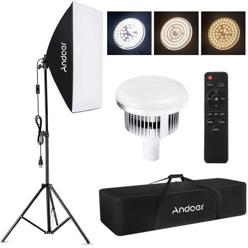 Andoer Studio Fotografie Licht Kit Softbox Beleuchtungsset