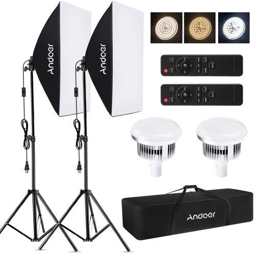 Andoer Studio Photography Light kit Kit d'éclairage Softbox