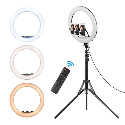 Ensemble de lampe de photographie annulaire à LED de 18 pouces