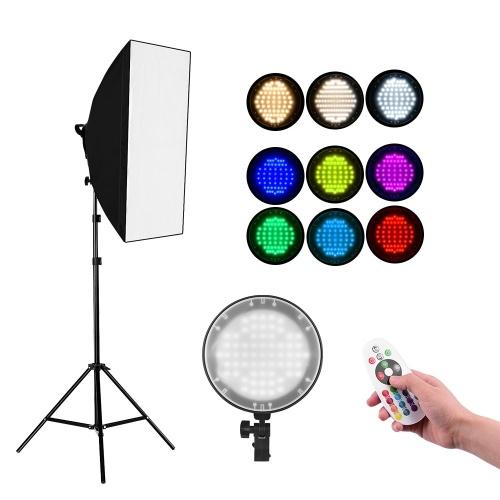 Kit de boîte à lumière LED RVB 2.4G Andoer Studio Photography