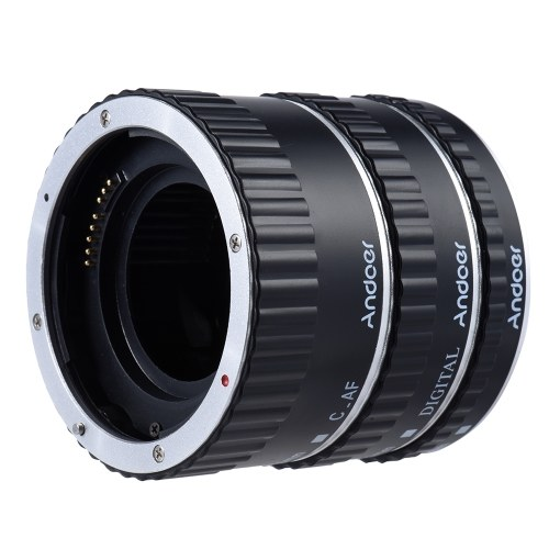 Andoer Kolorowe Metal TTL Auto Focus AF Macro Extension Tube Ring for Canon EOS EF EF-S 60D 7D 5D II 550D niebieski