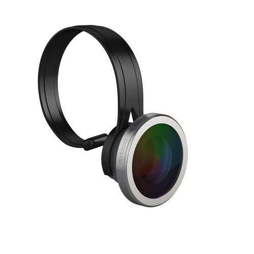 dodocool ユニバーサルの 3-1 でクリップオン 180 ° フィッシュアイ + 広角 + 10 X マクロ カメラ レンズ キットの iPhone サムスン LG とその他の Android スマート フォン シルバー × 0.67